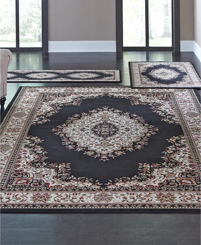 Area Rugs - Roma Closeout Kerman Black