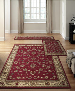 Area Rugs - Roma Isfahan Red