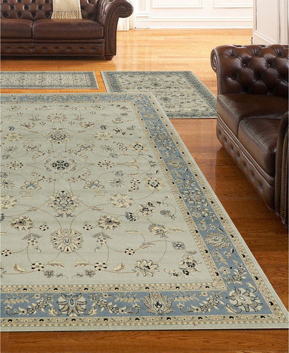 Area Rugs - Roma Isfahan Soft Mint