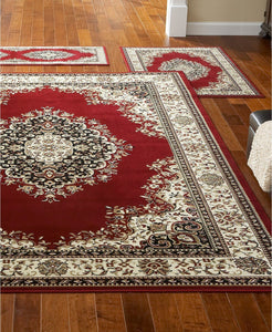 Area Rugs - Roma Kerman Red