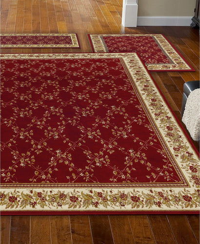 Area Rugs - Roma Trellis Red