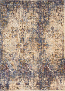 Area Rugs - Taza TAZ01 Lavar Dark Blue