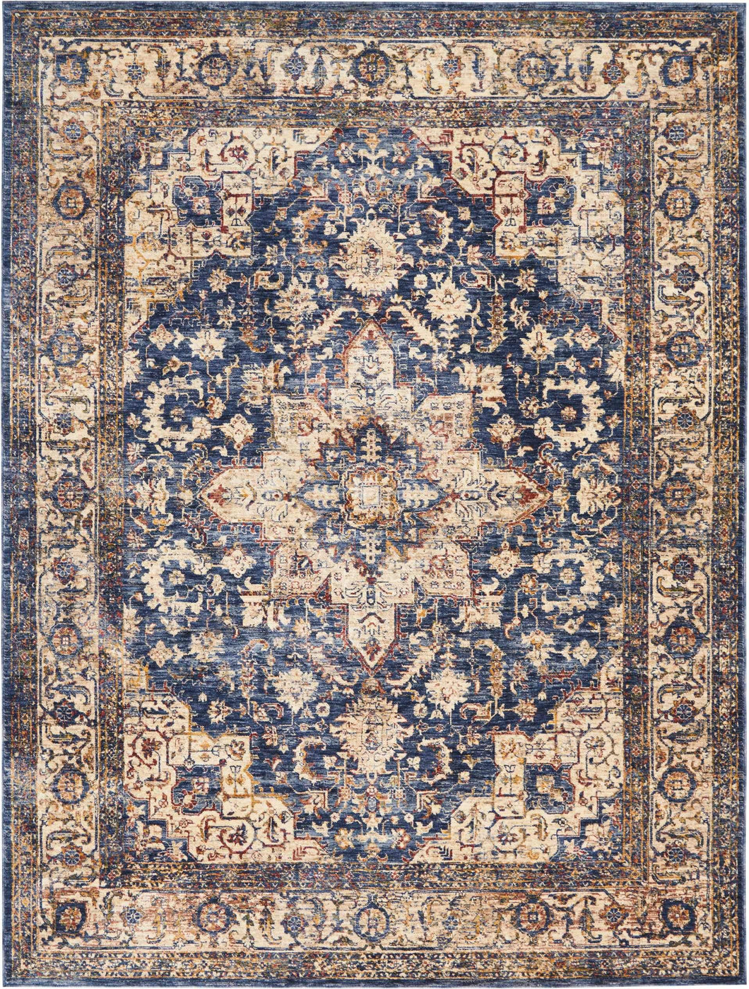 Area Rugs - Taza TAZ02 Heriz Dark Blue