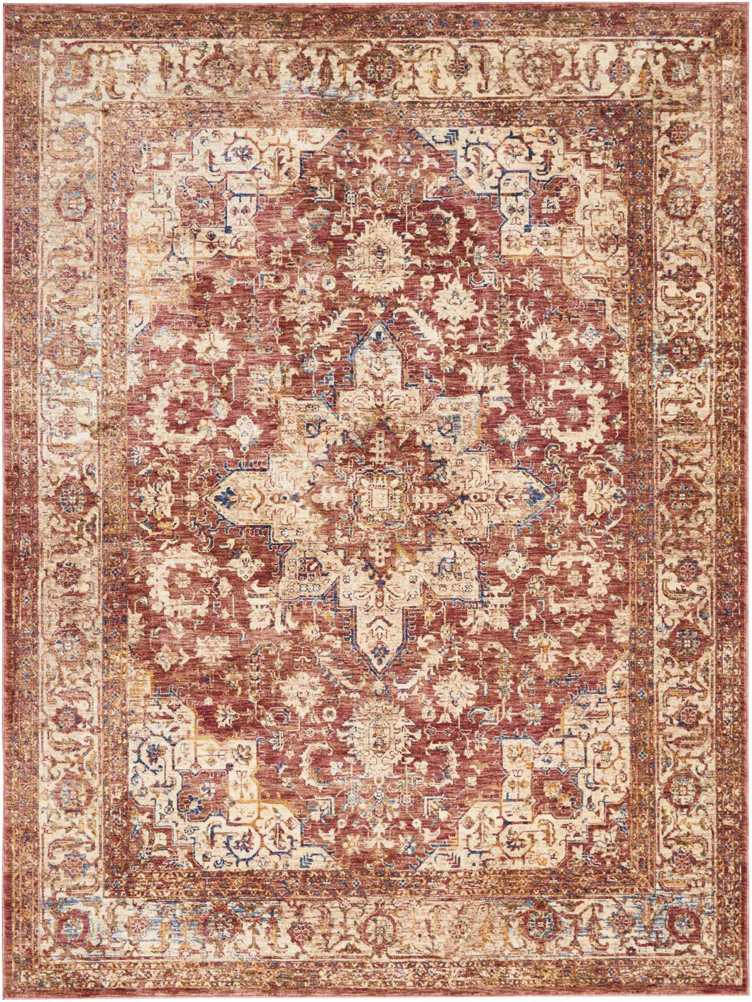 Area Rugs - Taza TAZ02 Heriz Red