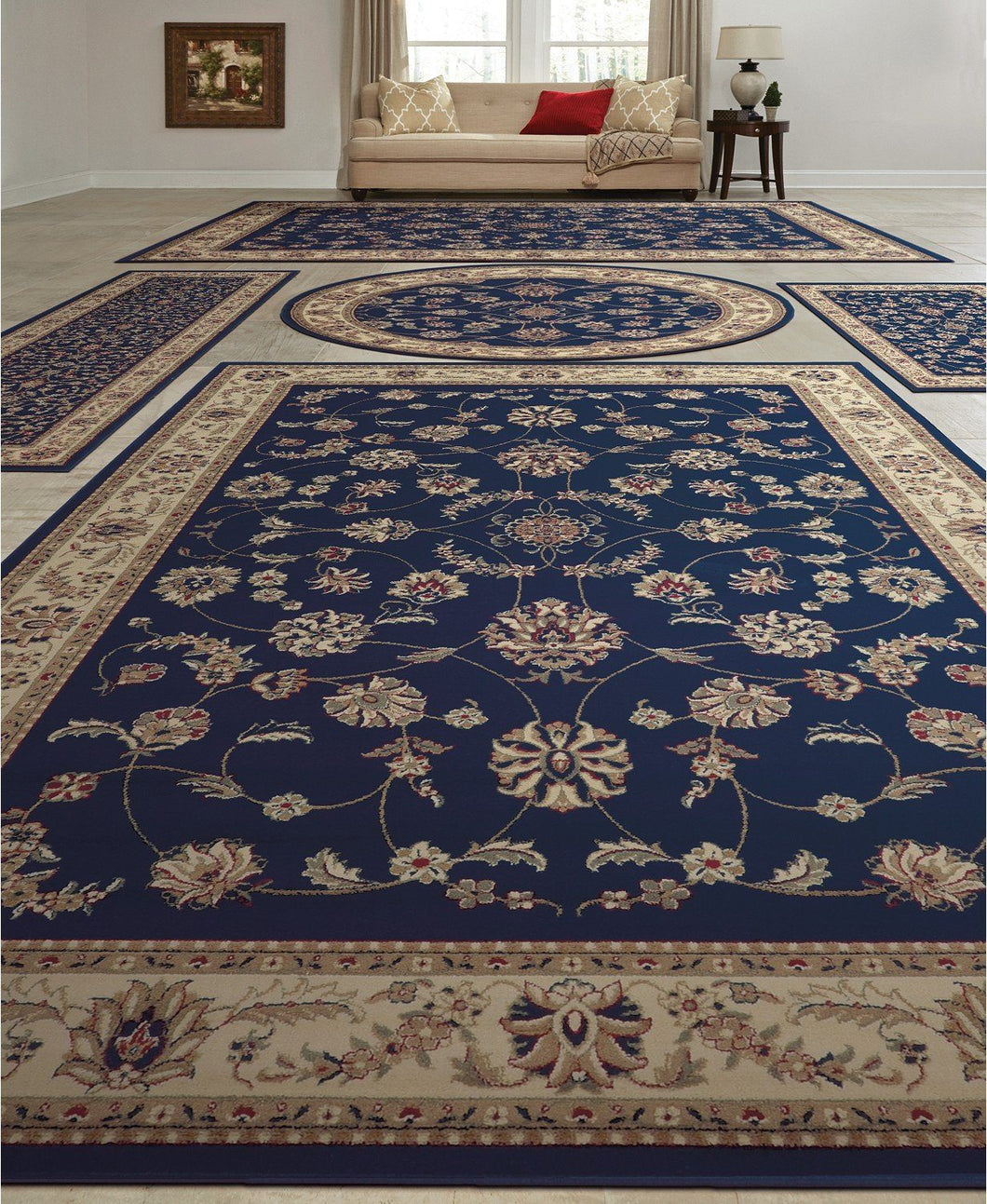 Area Rugs - Vienna Isfahan Blue