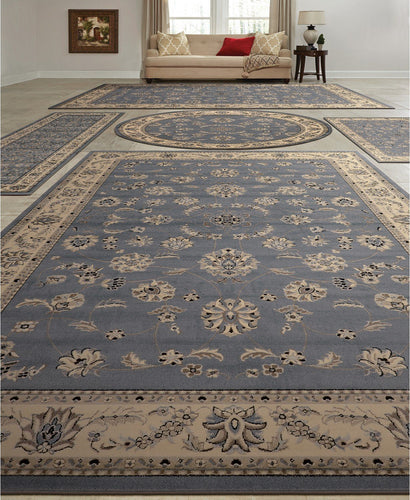 Area Rugs - Vienna Isfahan Grey/Blue
