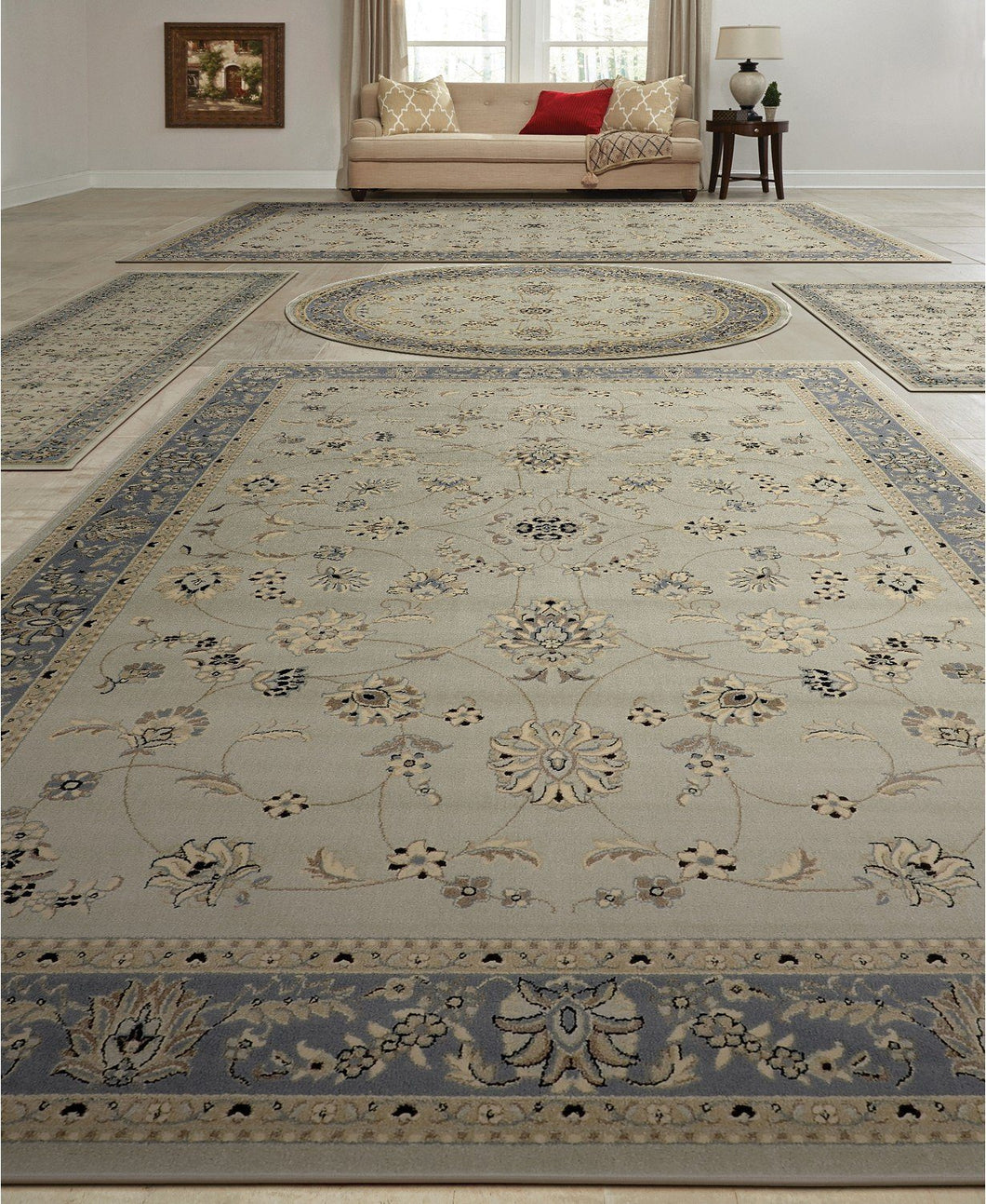 Area Rugs - Vienna Isfahan Soft Mint