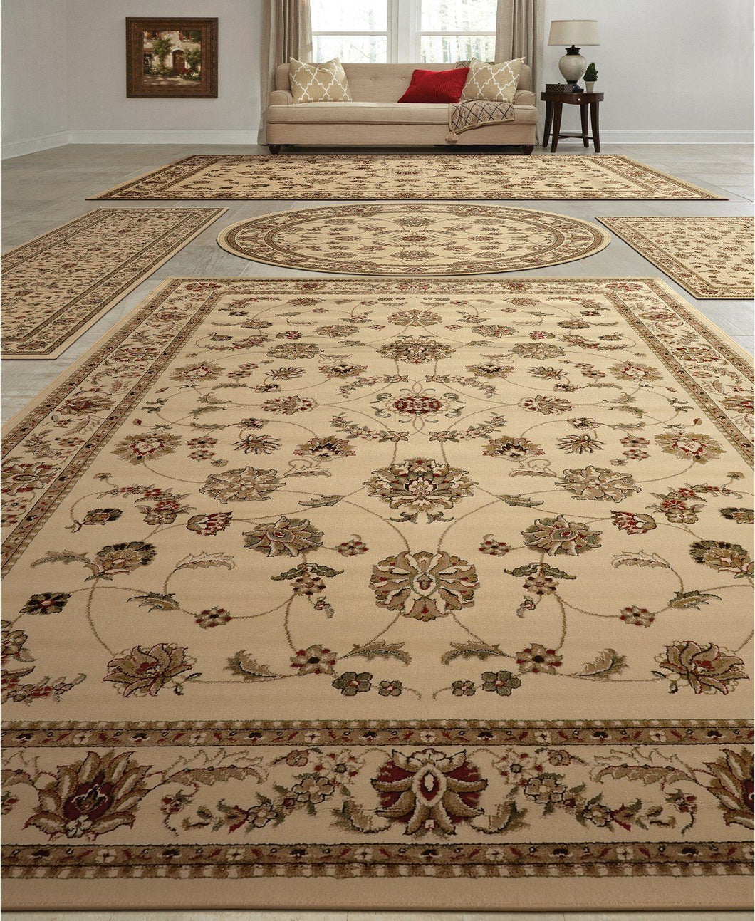 Area Rugs - Vienna Isfahan White