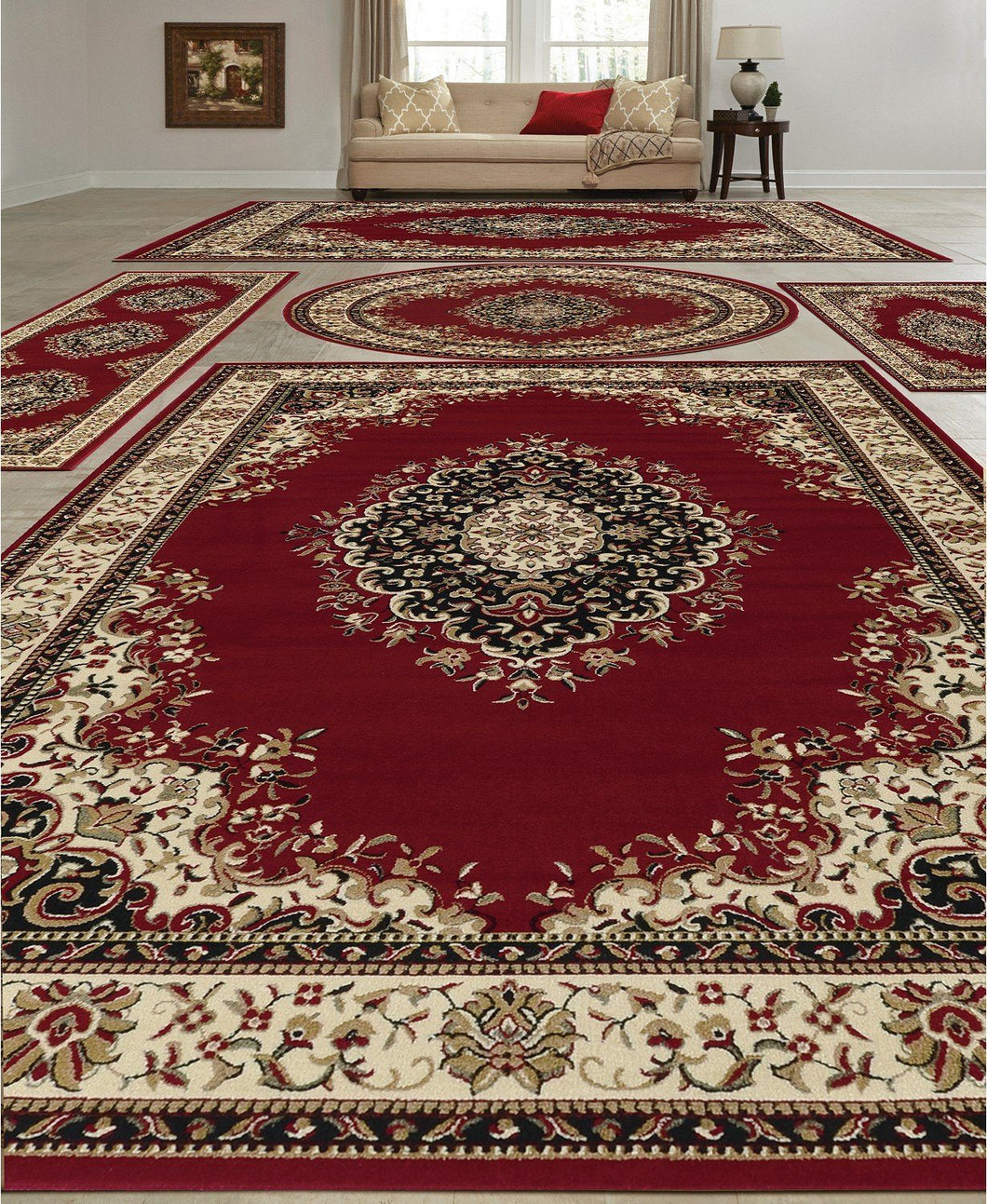 Area Rugs - Vienna Kerman Red