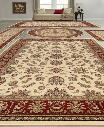 Area Rugs - Vienna Meshed Ivory/Brick