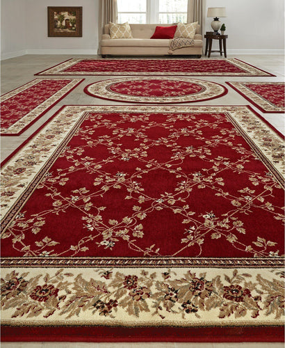 Area Rugs - Vienna Trellis Red