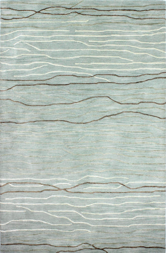 Area Rugs - Waves WAV101 Aqua, Created For Macy's