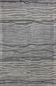 Area Rugs - Waves WAV101 Grey, Created For Macy's