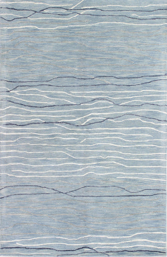 Area Rugs - Waves WAV101 Light Blue, Created For Macy's