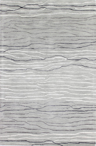 Area Rugs - Waves WAV101 Silver, Created For Macy's