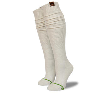 Women's Cream Boot Socks