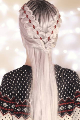 Festive Christmas and New Year's Eve Hairstyles