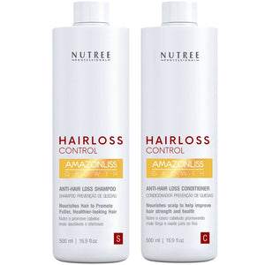 Anti Thinning Hair Set 16.9 fl.oz - Anti Hair Loss Shampoo and Conditioner for Women and Men - Nutree Cosmetics property of 365 SUN LLC.