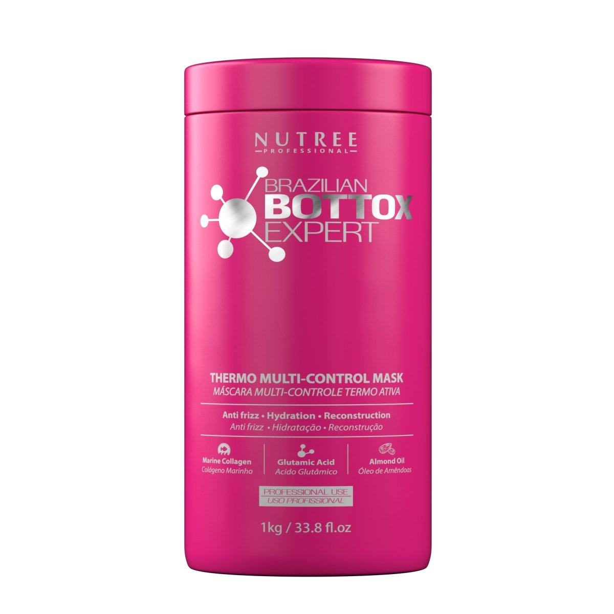 Brazilian Hair Bottox Expert Thermal Mask 33.8 fl.oz / 1 KG for all hair colors - Nutree Cosmetics property of 365 SUN LLC.