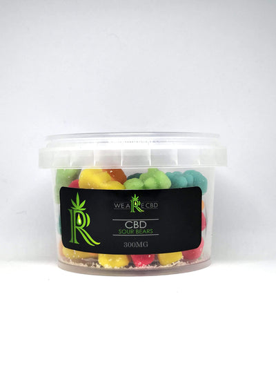 We Are CBD Sour Bear Gummies - 300mg Edibles CBD Hunters