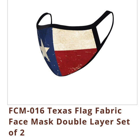 FASHION FACE MASK Washable Reusable Montana West Style Texas Flag.