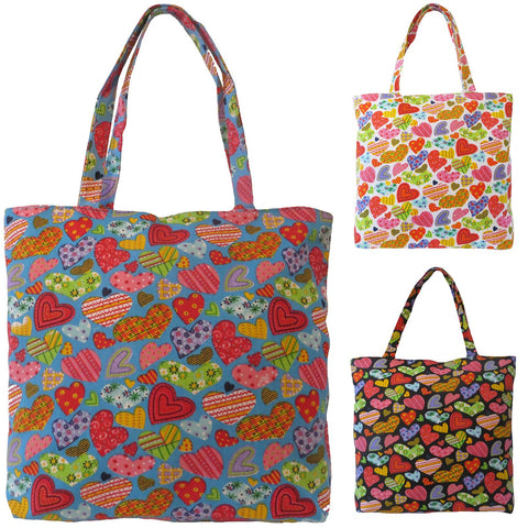 Women.s Beach Bag CAMILLE by Alessa Heart Print Beach Bag Tote.