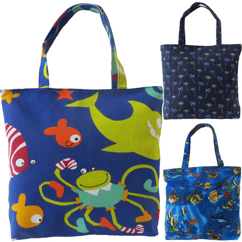 Womens Beach Bag Kay by Alessa Shopper Tote Bag Tropical Beach.