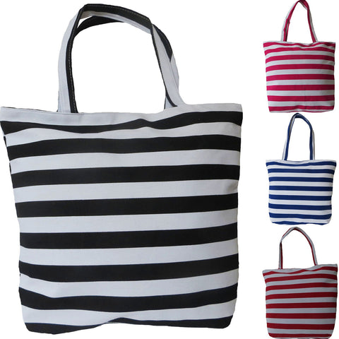 Womens Beach Bag Patti by Alessa Shopper Tote Bag Striped Print.