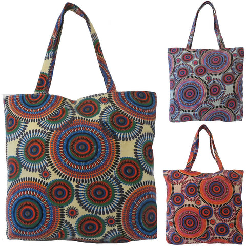 Womens Beach Bag SABINA by Alessa Kaleidoscope Print Beach Bag.