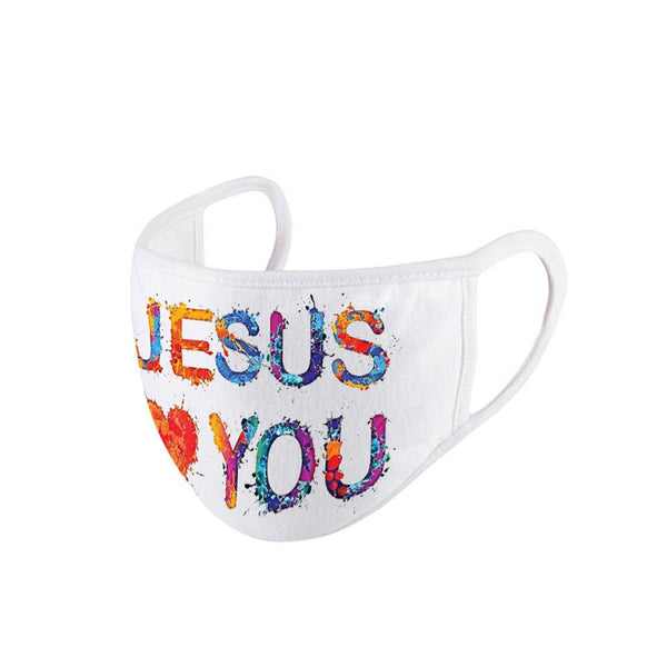 FASHION FACE MASK Washable Reusable Montana West Style Jesus Loves you!.