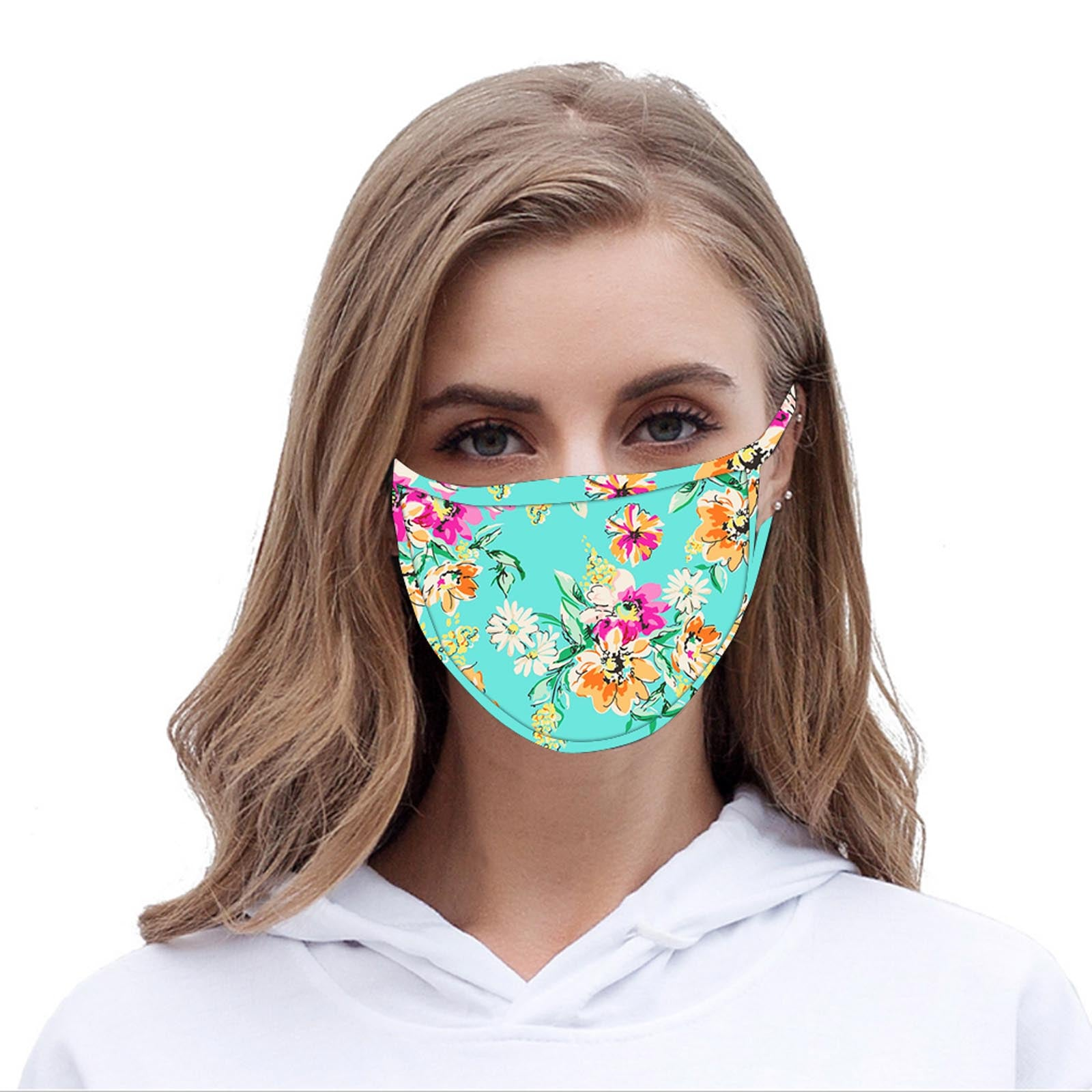 FCM-053 American Bling Floral Print Cloth Face Mask 1Pc Fashion Mask New.