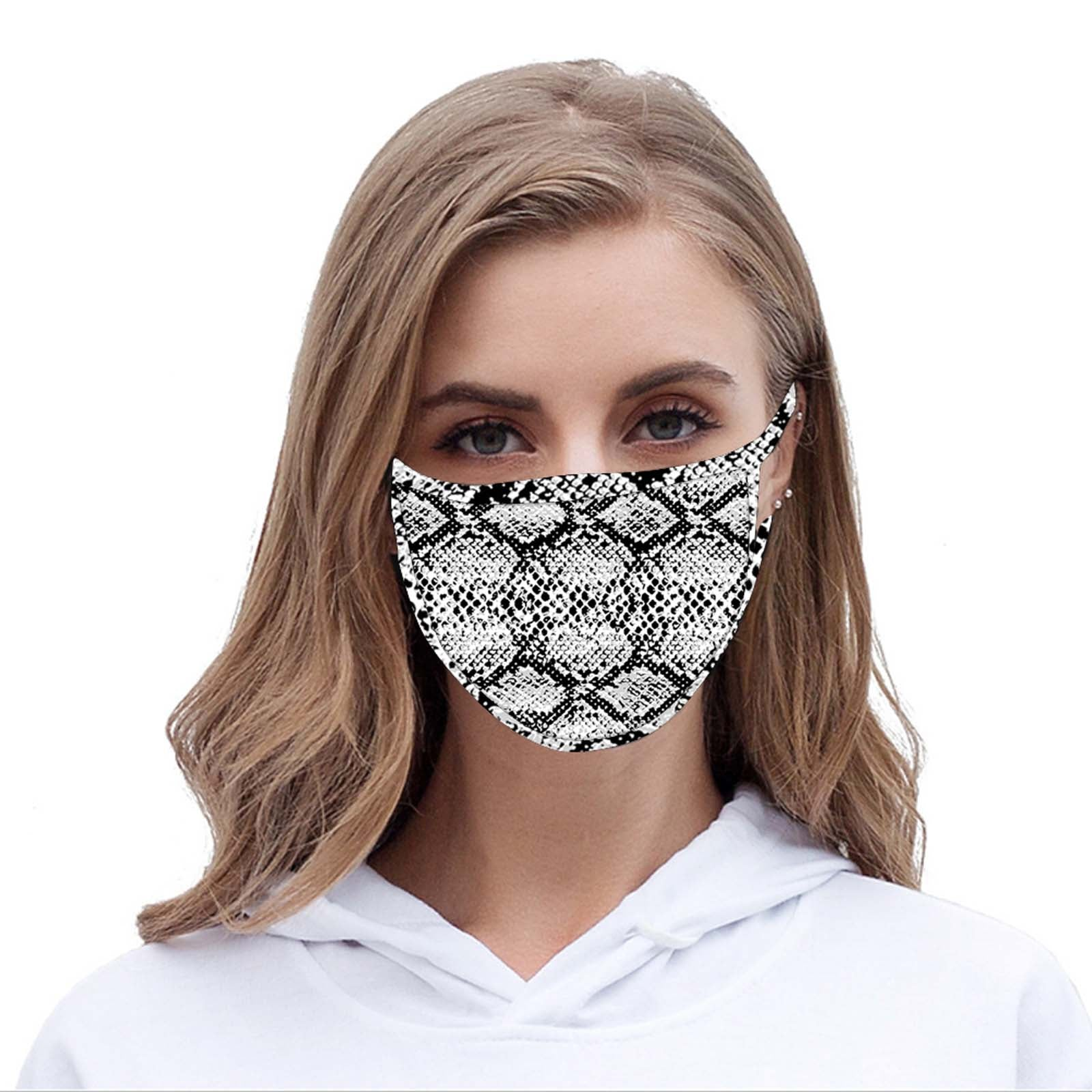 FCM-068 American Bling Snake Print Cloth Face Mask 1Pc Fashion Mask.