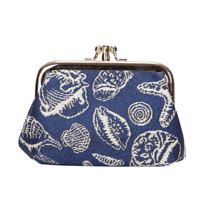 Signare Sea Shells Double Section Coin Frame Purse Tapestry.
