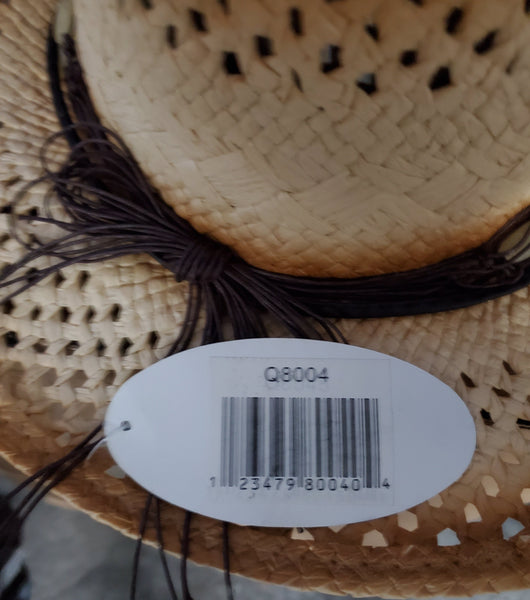 Q8004 Tea-Stained Toyo Cowboy Hat 100% Paper Cowboy Hat