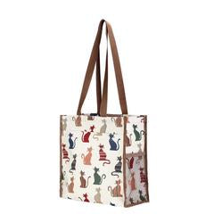 Signare Womens Fashion Tapestry Shopper Bag Cheeky CAT