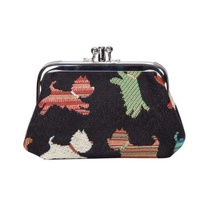 Signare Scottie Dog Double Section Coin Frame Purse Tapestry.