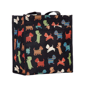 Signare Womens Tapestry Shopper Bag Tote Scottie Dog