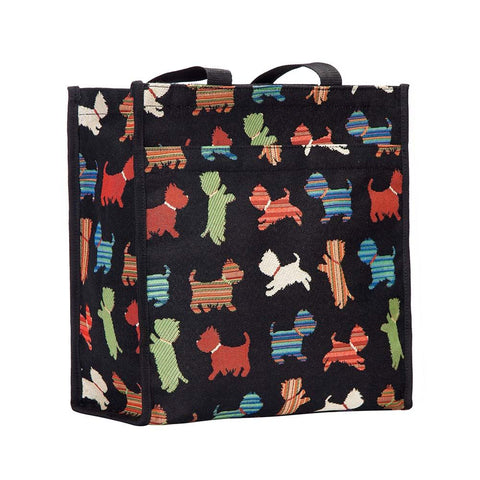 Signare Womens Tapestry Shopper Bag Tote Scottie Dog.