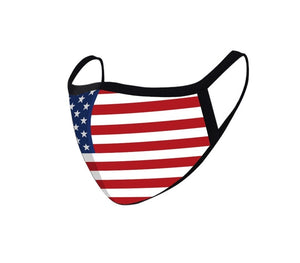 FASHION FACE MASK Washable Reusable Montana West Style American Flag.