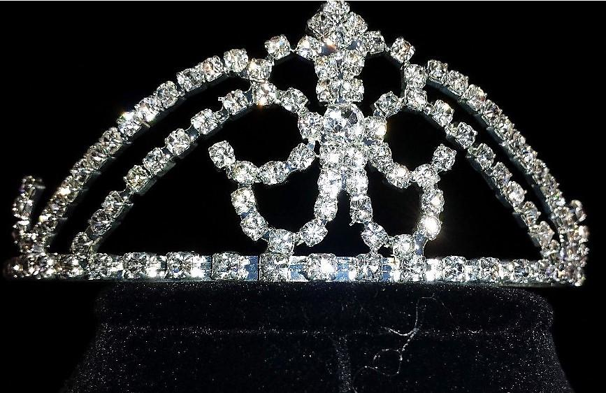 Bridal Pageant Rhinestone Crystal Crown Tiara #2.