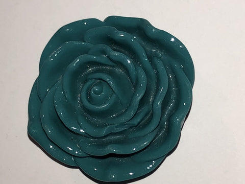 Attractables Custom Purse Jewelry-Magnet Key holder Teal Gr Rose