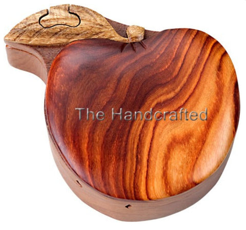 Hand-Carved-in-Vietnam-Wood-Apple-Puzzle-Box-Intarsia-Wood