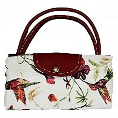 Tapestry Humming Bird Fold Up Bag by Signare Shopping Bag