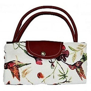 Tapestry Humming Bird Fold Up Bag by Signare Shopping Bag.