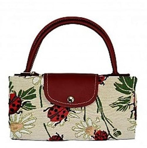 Tapestry LadyBird / Lady Bug Fold Up Bag by Signare Shopping Bag