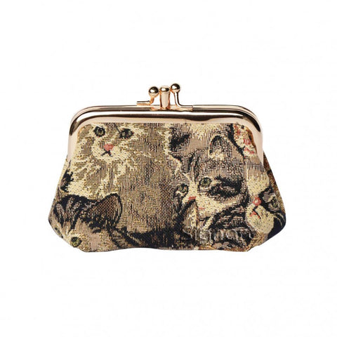 Signare CAT Double Section Coin Frame Purse Tapestry