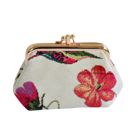 Signare Humming Bird Double Section Coin Frame Purse Tapestry.