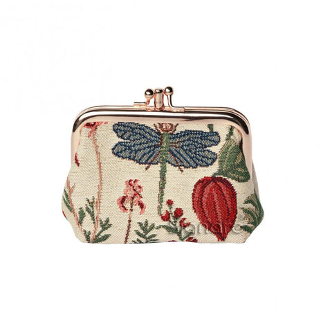 Signare MORNING GARDEN Double Section Coin Frame Purse Tapestry.
