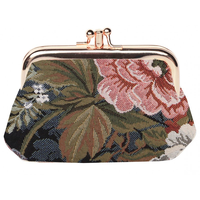 Signare PEONY Double Section Coin Frame Purse Tapestry
