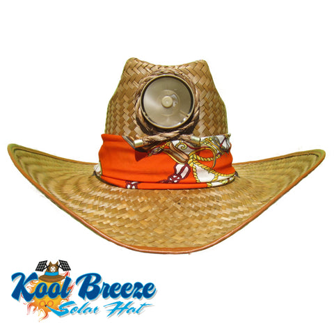 Mens Kool Breeze Solar Cowboy Hat.